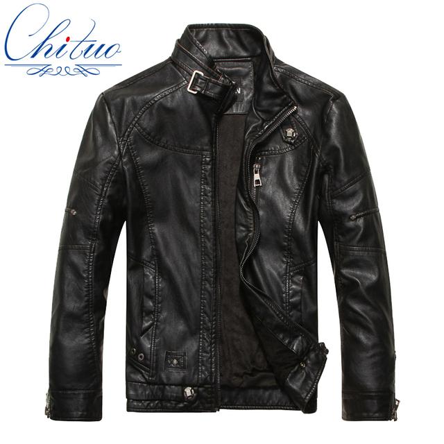 2016 otoño nuevos productos de los hombres de cuero chaqueta de bombardero Jaqueta COURO masculina abrigos de piel de oveja chaqueta de cuero ocasional de los hombres M-XXXL