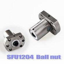 SFU1204 шариковая гайка 12 мм шариковый винт одинарная гайка для RM1204 гайка Корпус кронштейн ЧПУ DIY резьба части машины