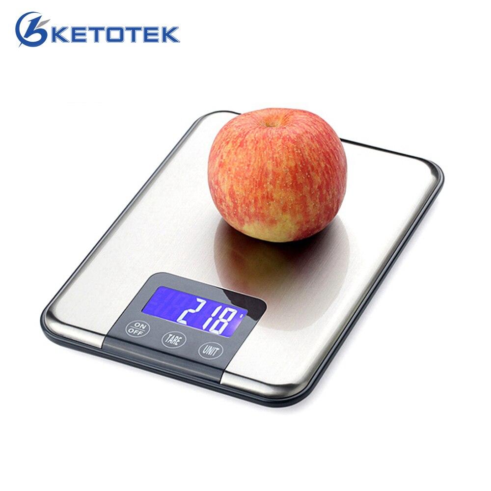 15 kg/10 kg 1g Digital Libra de la escala de ponderación cocina escalas equilibrio de peso para comida vegetal de la fruta