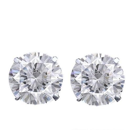 4-1/5 ct Round Cut D/VVS1 18K White Gold Over Solitaire Stud Earrings $999 1000pcs 0402 18k 18k ohm 5