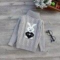 Novo Outono Inverno Do Bebê Das Meninas Dos Meninos das Crianças dos miúdos Dos Desenhos Animados Fawn Quente Blusas de Gola Alta Pullover Cardigans Top roupas Outerwear