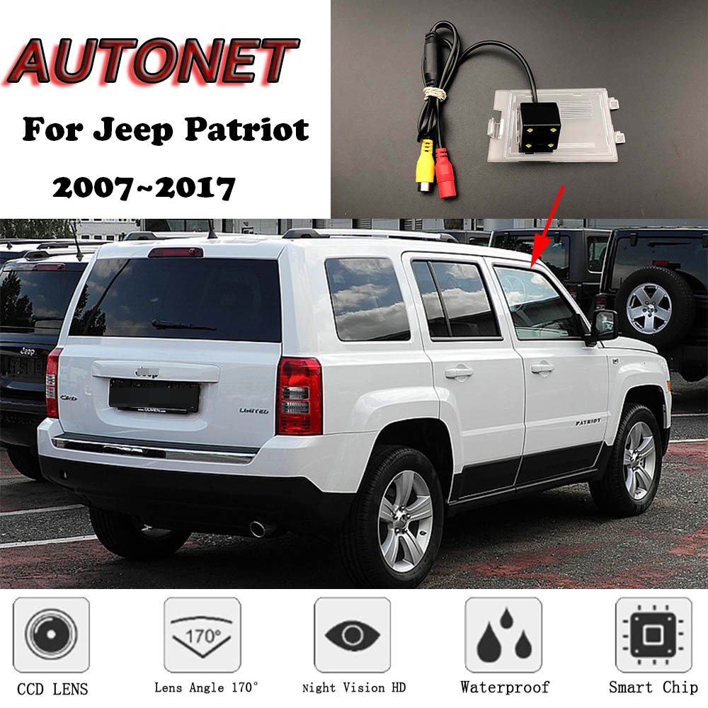 AUTONET Backup Rear View Camera For Jeep Patriot 2007~2017 2011 2012 2013 2014 Night Vision/license Plate Camera/parking Camera