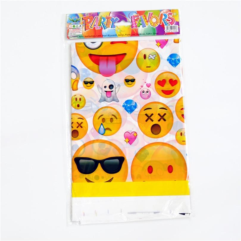 1 Pz Bambini Favori Di Partito Emoji Tablecover Giorno Dei Bambini Tovaglia Baby Shower Birthday Party Decoration Forniture Del Fumetto
