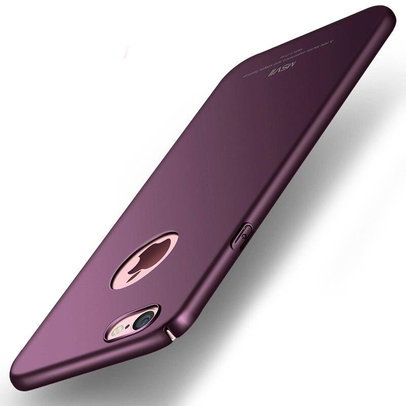 Galleria fotografica Original MSVII Brand For Apple iPhone 6 6s Matte Case Hard Coque Back Cover Slim Fashion Phone Housing For iPhone 6 6s / Plus