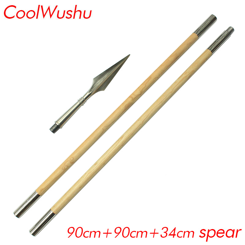 Sectional Wax Wood Martial Arts Spear