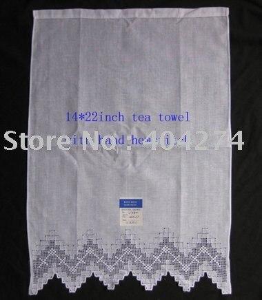 100% linen tea towel with ladder hemstitch