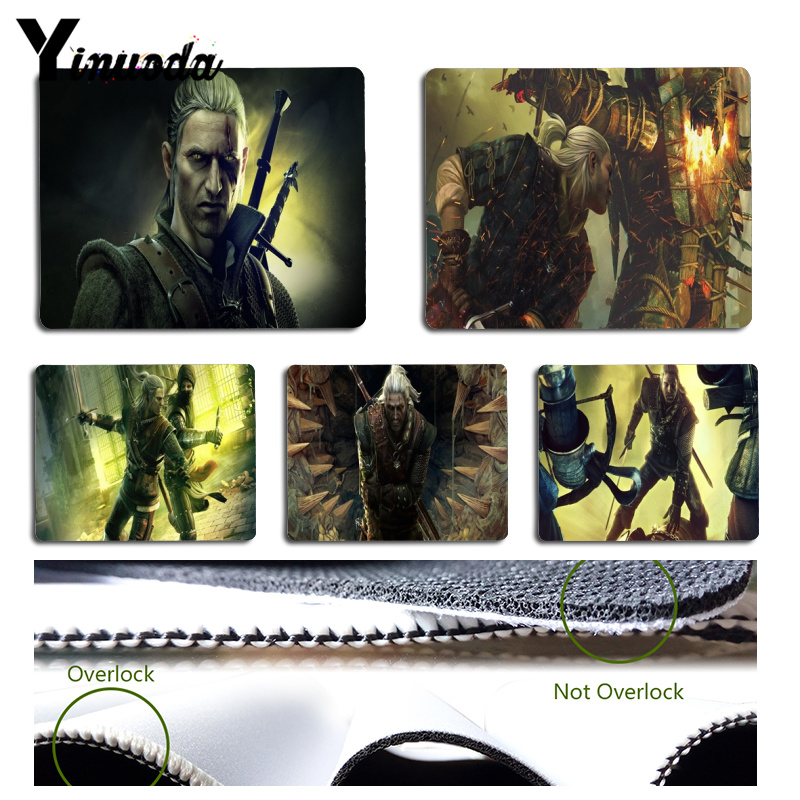 Yinuoda The Witcher 2 Comfort Mouse Mat Gaming Mousepad Size for 18x22x0.2cm Gaming Mousepads
