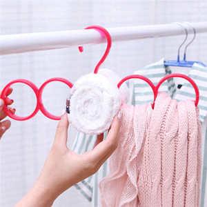 Image 1 - Новый список креативная стойка для хранения шарф Вешалка 5 отверстий стойка для хранения многофункциональная съемная полка для галстука
