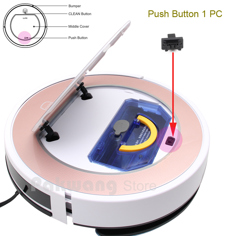 Original ILIFE V5 V5S V7 V7S Push bottom 1 pc,  Press Stub under the blue cover Robot Vacuum Cleaner Parts schulze blue press line size 2 s
