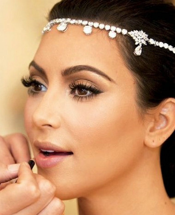 Hot Sale Kristal Wanita Dahi Headband Kepala Rantai Topi Baja Berlian - Perhiasan fashion - Foto 2