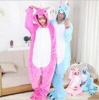 Newest Unisex Fleece Animal Pajamas One Piece Unicorn Cartoon Cosplay Costume Adult Pegasus Tenma Pajamas Sleepwear