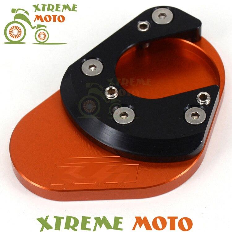 Side Kickstand Kick Stand Extension Plate Pad KTM 125 200 390 Duke RC 690 Enduro Supermoto SM SMC SMR 950 Adventure - CYMOTO store
