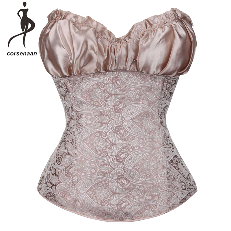 Fashion Waist Cinching Victorians Corselet Crop Top Women's Body Shapewear Lingerie   Corsets   &   Bustier   With G String 864#