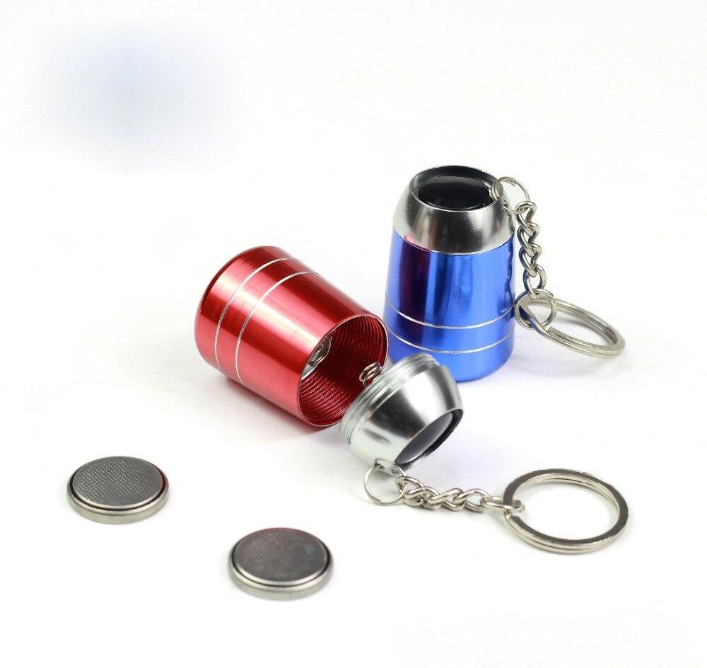 Led Keychain Mini Flashlight Metal Baking Key Chain color random send in LED Flashlights from Lights Lighting