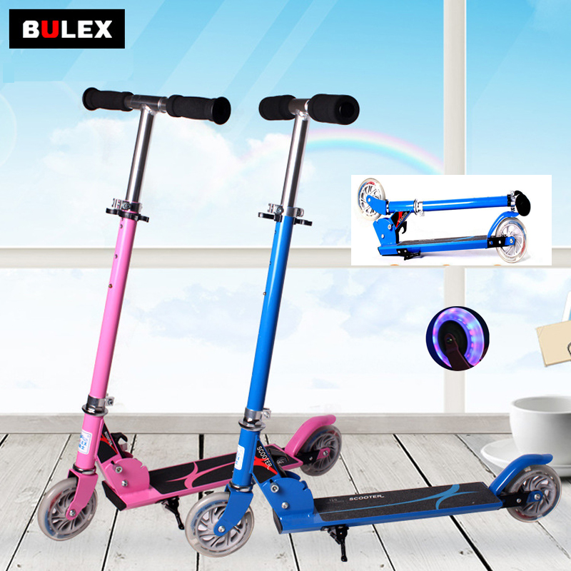 Jeunes Scooter PU Flash Roues Trottinette Scooter Stunt