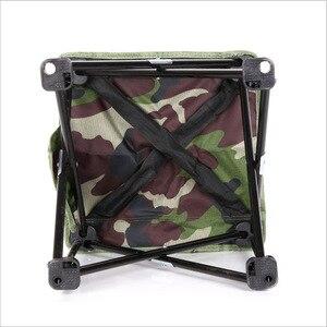 Image 3 - Silla para pesca al aire libre plegable ultraligera de Camping senderismo, de camuflaje, portátil, de ocio, Picnic, playa, silla plegable, asiento, taburete