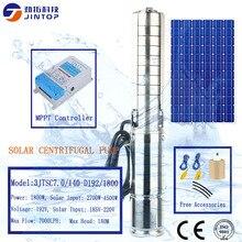 Купить с кэшбэком (MODEL 3JTSC7.0/140-D192/1800) JINTOP SOLAR DC BRUSHLESS CENTRIFUGAL PUMP High Solar Water Pump 192V 7000L/H max head 140m