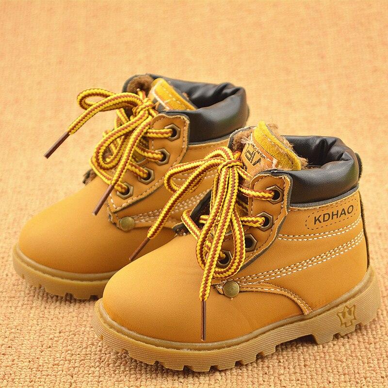 Весна-осень-зима детей Спортивная обувь ботинки Martin обувь для детей Обувь для мальчиков Девичьи зимние сапоги повседневная обувь Обувь для девочек Обувь для мальчиков плюшевые модные Сапоги и ботинки для девочек
