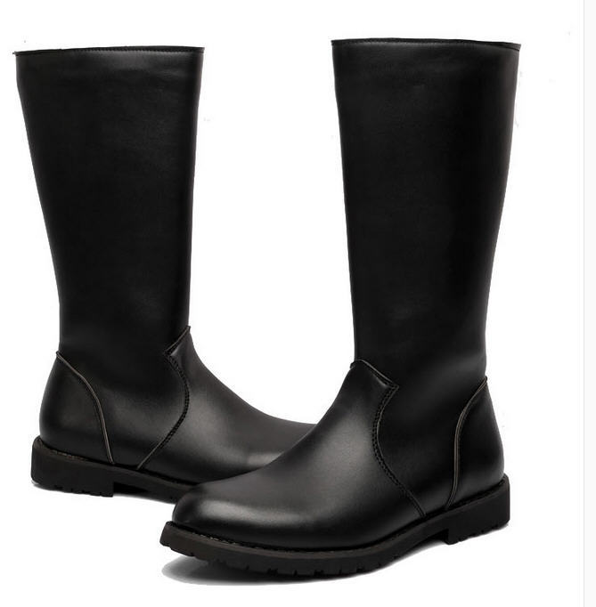 tall man honor guard parade boots with side zipper riding horse