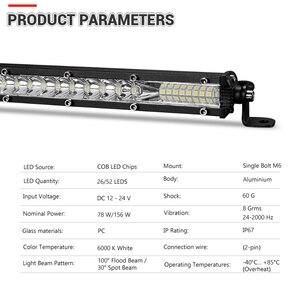 Image 3 - DERI haz de luz de 10 pulgadas y 20 pulgadas, Combo de haz, barra de luz LED ultradelgada, barra de luz LED recta y delgada, luces de trabajo de una hilera