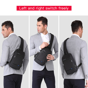 Image 5 - Kingsons Male Chest Bag Crossbody Bag Small Single Shoulder Strap Back pack Casual Travel Bags