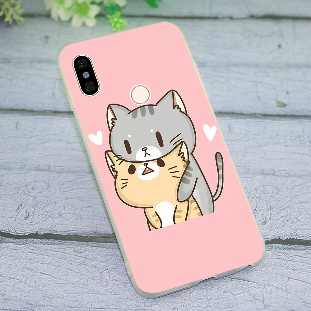 Soft TPU Silicone <font><b>Cover</b></font> for <font><b>Xiaomi</b></font> Redmi 5A <font><b>Pug</b></font> Dog cat Phone Case for <font><b>MI</b></font> Plus 6 Note 4 7 Pro A1 <font><b>A2</b></font> Lite 8 SE 9 4X 4A 5 5A Back image