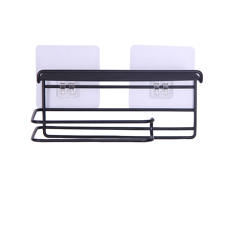 050 Iron art free wall mounted mobile phone rack paper rack kitchen and toilet storage rack 19 9 2 8 3cm in Storage Shelves Racks from Home Garden