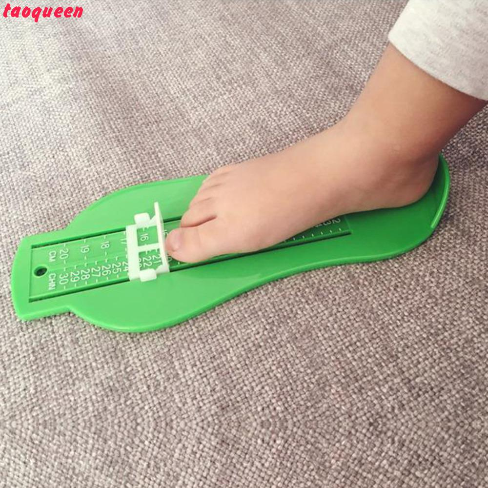 2018 Taoqueen 4 Color  Kid Infant Foot Measure Gauge Shoes Size Measuring Ruler Tool  Fingerprint Souvenirs