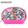 2016 Women Travel Bags Cosmetic Bag Flower Pattern Leather Makeup Bag Waterproof professional  Handbag Pencil Pouch  Wash Bags