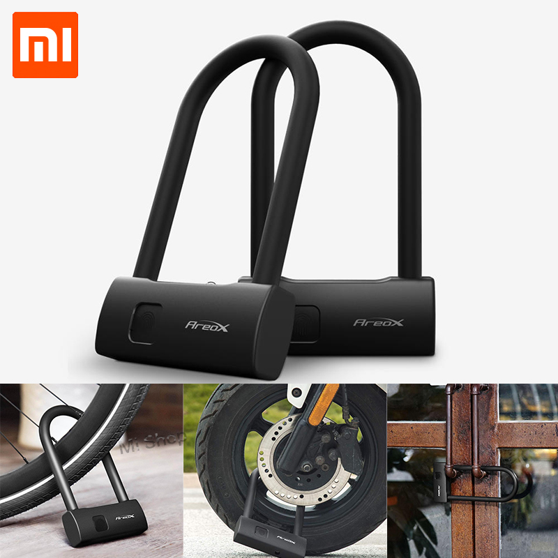 Xiaomi Mijia AreoX Intelligent Fingerprint U Lock U8 locker sliding door Car Motorcycle Bike padlock window Password Waterproof