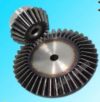 цена на 1Set 2.5M-20/40T -1:2 Precision Umbrella Bevel Gear Standard -Gear Diameter:102mm/54mm (hole d:12mm/12mm)