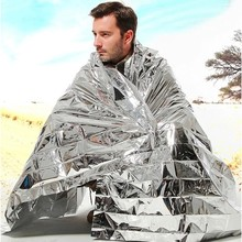 Emergency shelter tents Blanket Rescue Insulation 210*130CM Curtain Survival Outdoor camping hiking safety tube tent