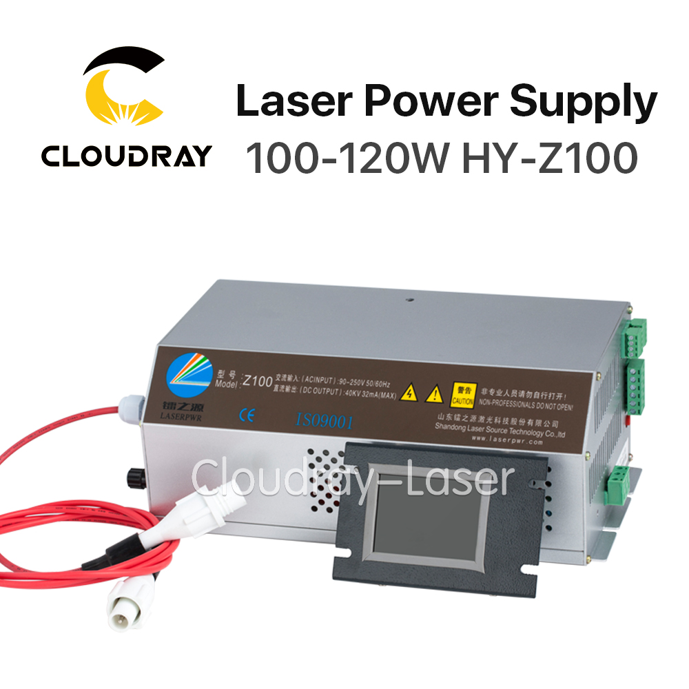 Cloudray 100-120W CO2 Laser Power Supply Monitor AC90-250V EFR Tube for CO2 Laser Engraving Cutting Machine Z100 Z Series co2 laser lens tube reci w4 100w 120w 130w tubes z4 for co2 laser cutting engraving machine dia 80mm length 1200mm s4 v4