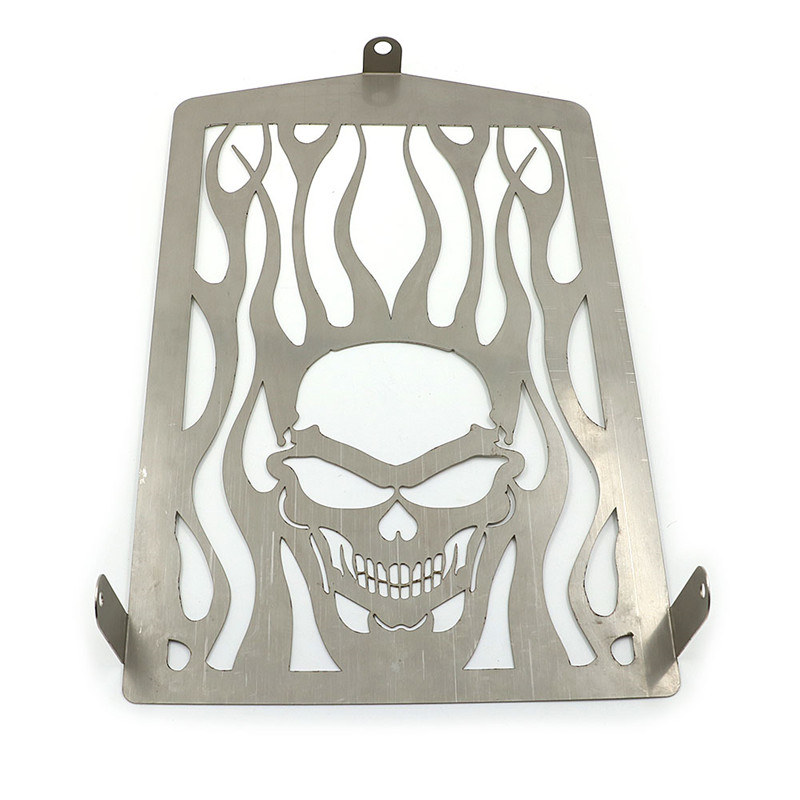 Skull Flame Radiator Water Coolant Grill Grille Tank Cooler Cover Protector For Yamaha ROYAL STAR XVZ13