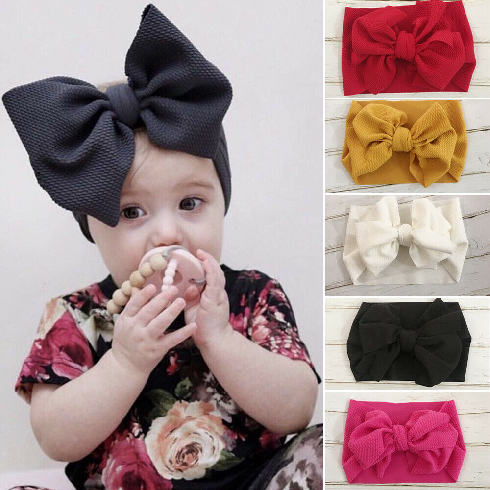 Soft Floral Butterfly Bow Turban Knot For Infant//Baby Headband Hair Band