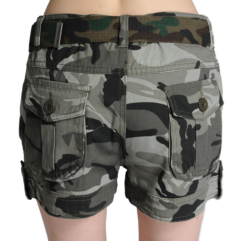 Shorts Jeans New Arrival Cotton Shorts Women 2016 Summer New Army Camouflage Multi-pockets Cargo Trousers Short For Feminino ...