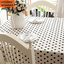Modern Simple Black Point Five star Rectangular Tablecloth Table Cover
