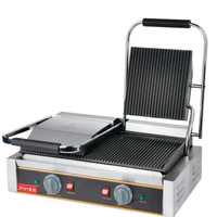 110V 220V 3600W Commercial Electric Contact Griddle Grill Press Plate Steak Machine Double Head Sandwich Panini Grill Meat