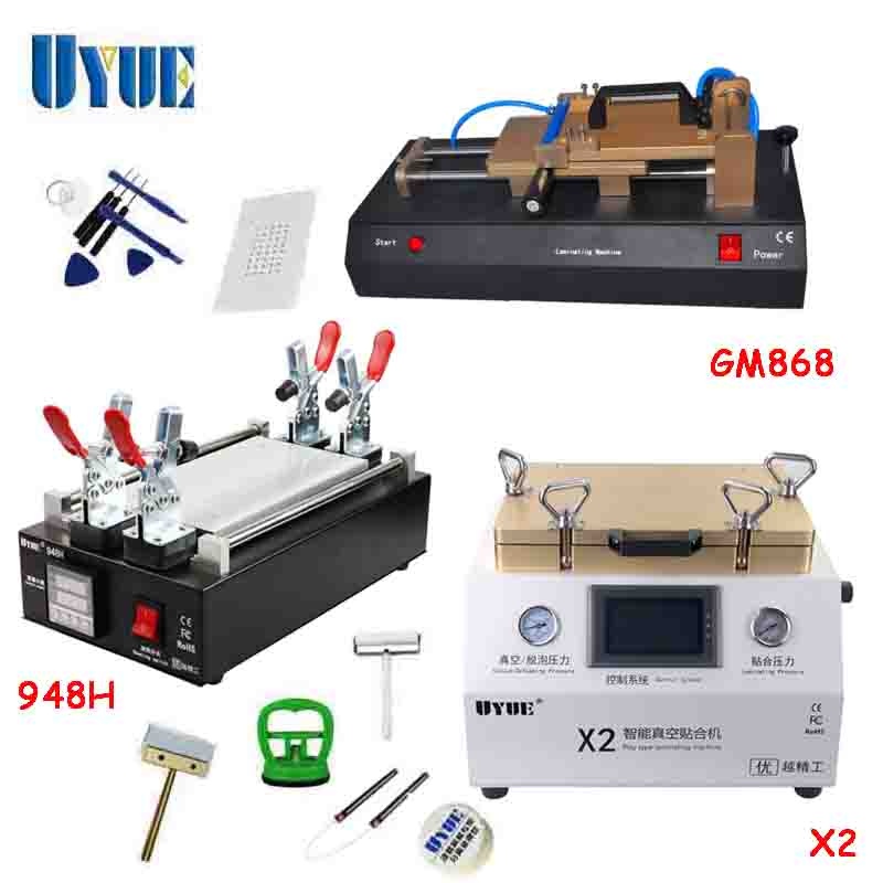 UYUE Multifuction OCA Vacuum Laminating Machine  LCD Separator Machine  Film Laminator Machine X2+948H+GM868  цены