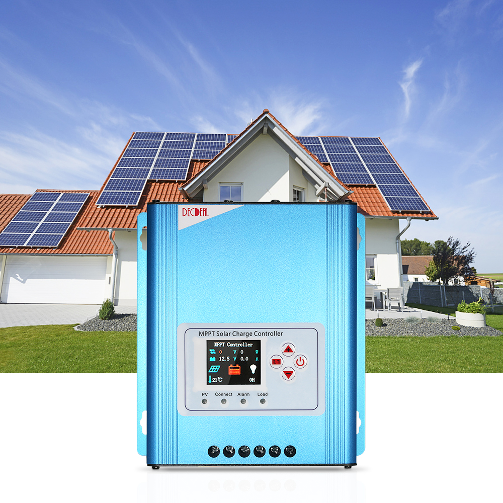 30A MPPT Solar Charge Controller 12V/24V/48V Battery Charging Regulator with LCD Display Overload Protection Data Record 2 pin thermal overload protection