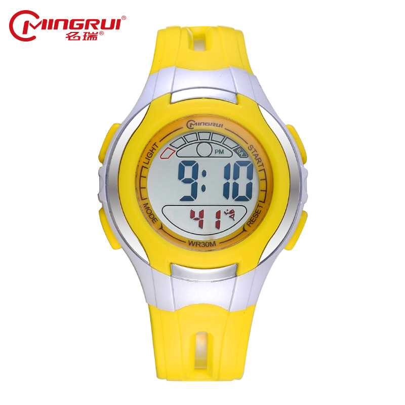 MINGRUI Children Waterproof Luminous Digital Watch Kids Silicone Sport Watches Students Alarm LED Watch Hour Clock Gift