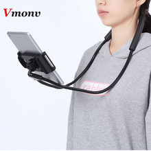 Mobile-Phone-Holder Necklace Huawei Hanging-Neck iPhone Xiaomi Flexible for Lazy New