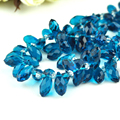 198PCS/LOT 12mm Sharp Drop Beads Blue Crystal Glass Beads Diy Beads Material Fit Jewelry Necklace Bracelet DIY Making