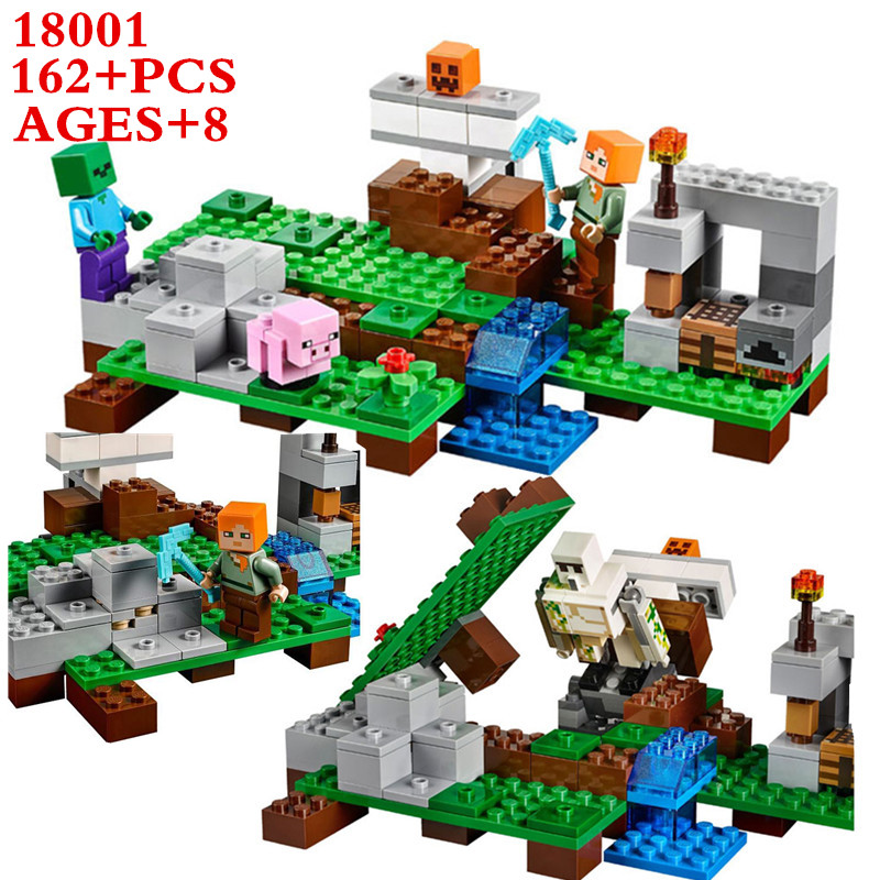 SERMOIDO Store LEPIN 18001 Model Building Kits Compatible With Lego My Worlds MineCraft Blocks Educational Toys Hobbies For Children 21123