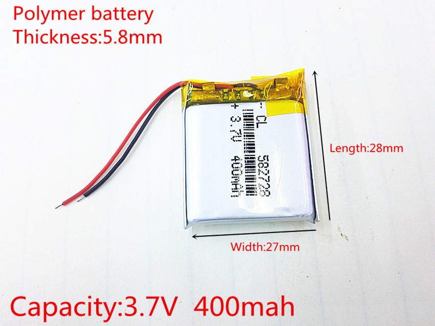 Consumer Electronics Reliable 582728 3.7v 400mah Rechargeable Li-polymer Li-ion Battery For Q50 G700s K92 G36 Y3 Childrens Smart Watch Mp3 Bluetooth Headset