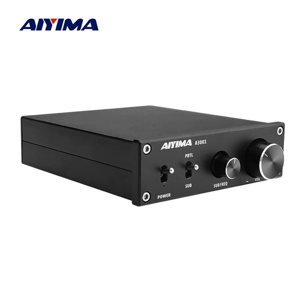AIYIMA TPA3255 Subwoofer Power Speaker Amplifier 300W Mono Hifi Home Audio Amplifier NE5532 OP AMP Bass Treble Adjust