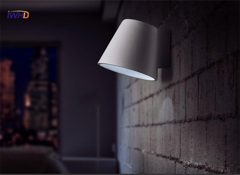 Lampade in gesso da parete con applique da parete in resina di