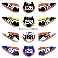 H2CNC Custom Number Plate Background Graphics Sticker & Decal For KTM SX 50 2009 2010 2011 2012 2013