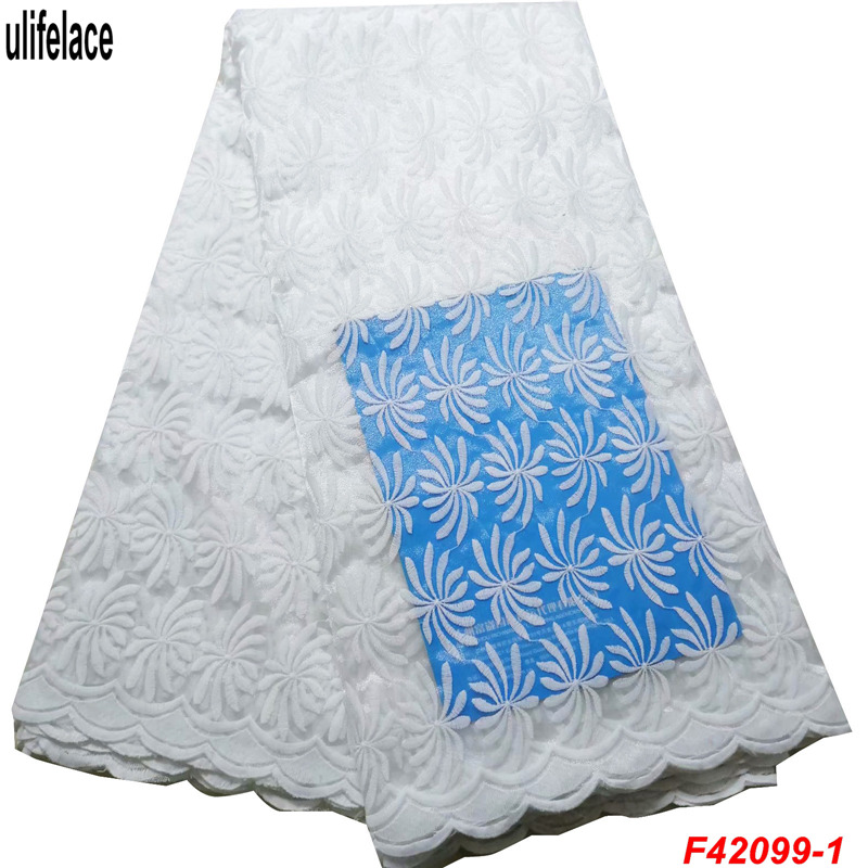 African Soft Mesh Material Lace Fabric For Wedding White Nigerian French High Quality F4-2099