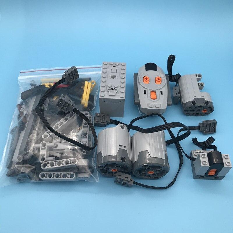 Technic Parts 8800 Power Function Motors Set For 42083 Bugatti Chiron Racing Car Model Building Kits Blocks Bricks Toys in Blocks from Toys Hobbies